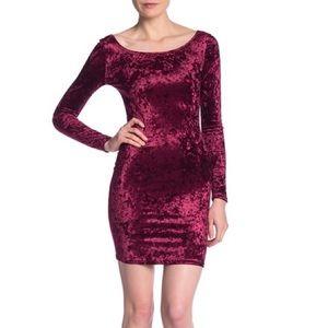 Love...Ady Long Sleeve Velvet Bodycon Dress